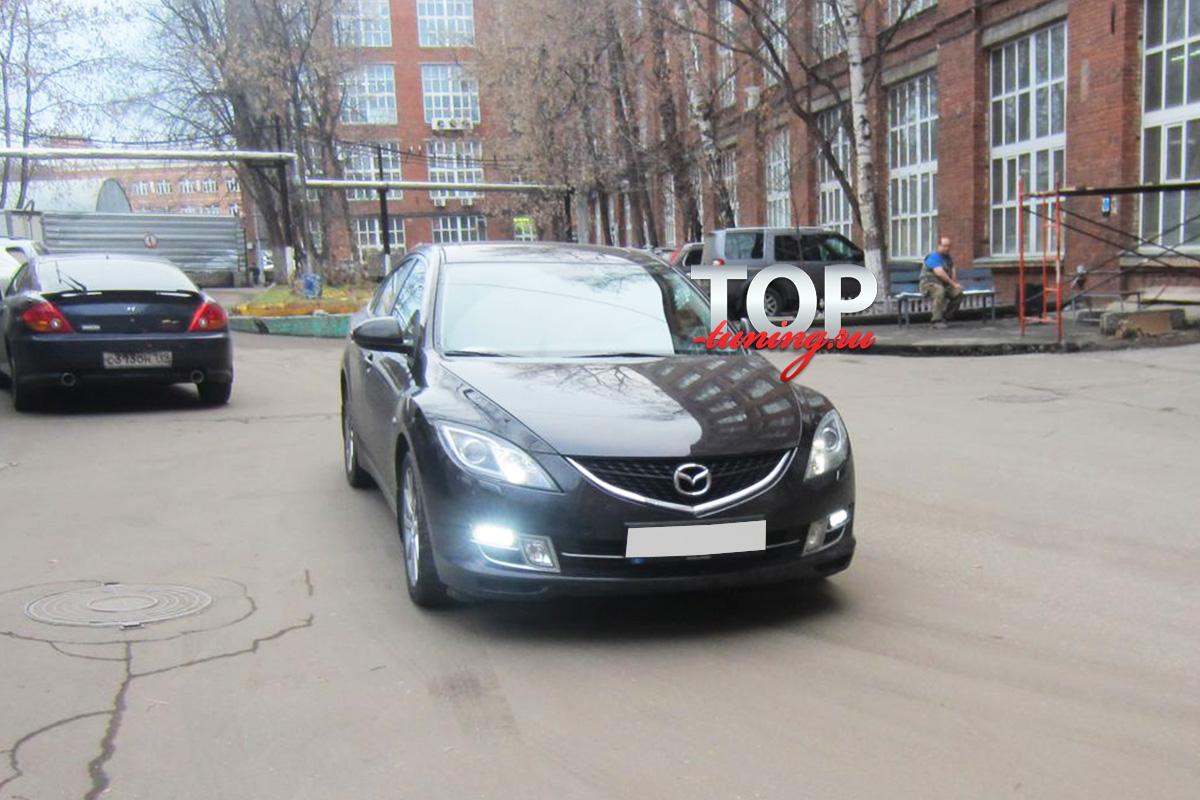 Дневные ходовые огни LED Star с повторителями поворота на Mazda 6 GH