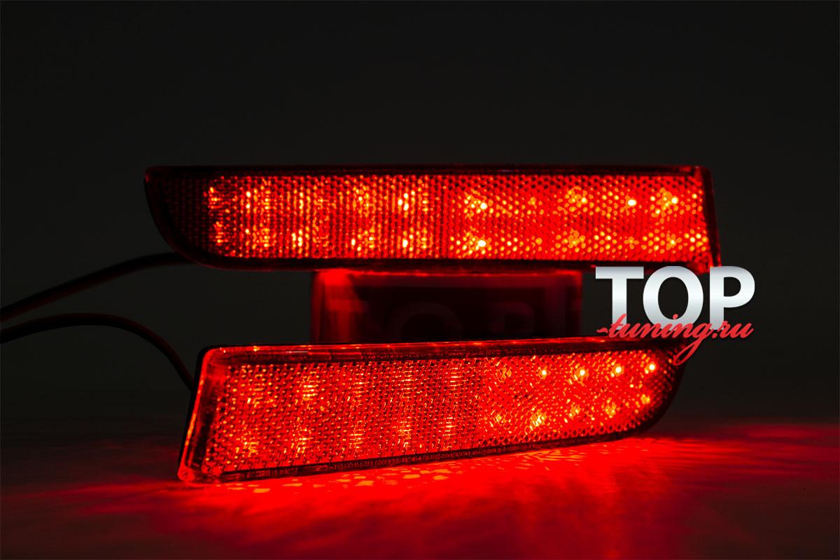 LED стоп-сигналы Crystal White / Red на Mitsubishi Lancer 10 (X)
