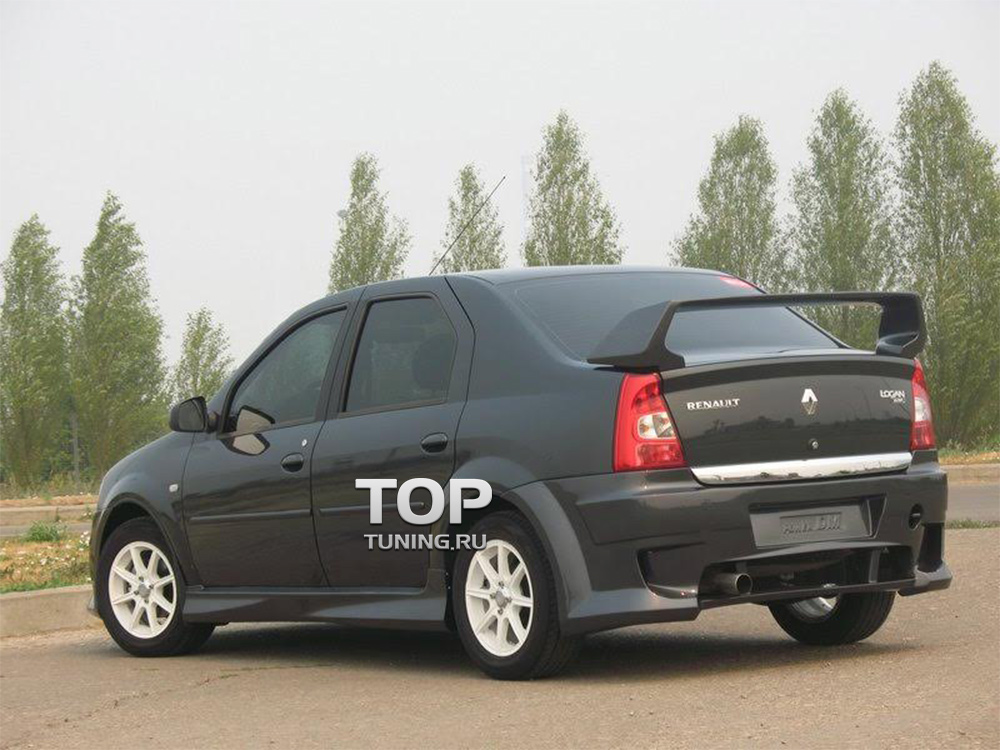 Спойлер крышки багажника - Модель Power DM (Evo Style) - Тюнинг Рено Логан