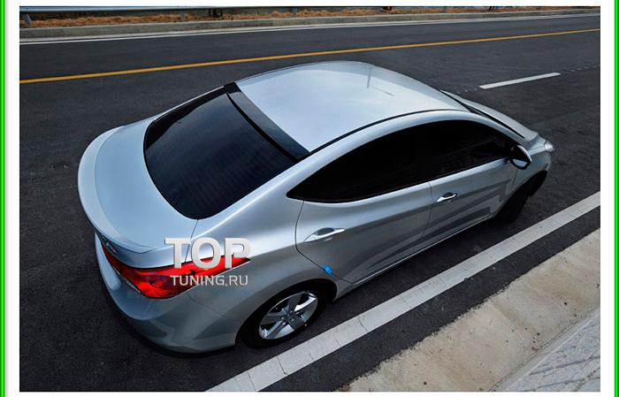 6479 Спойлер крышки багажника M&D LED на Hyundai Elantra 5 (Avante MD)
