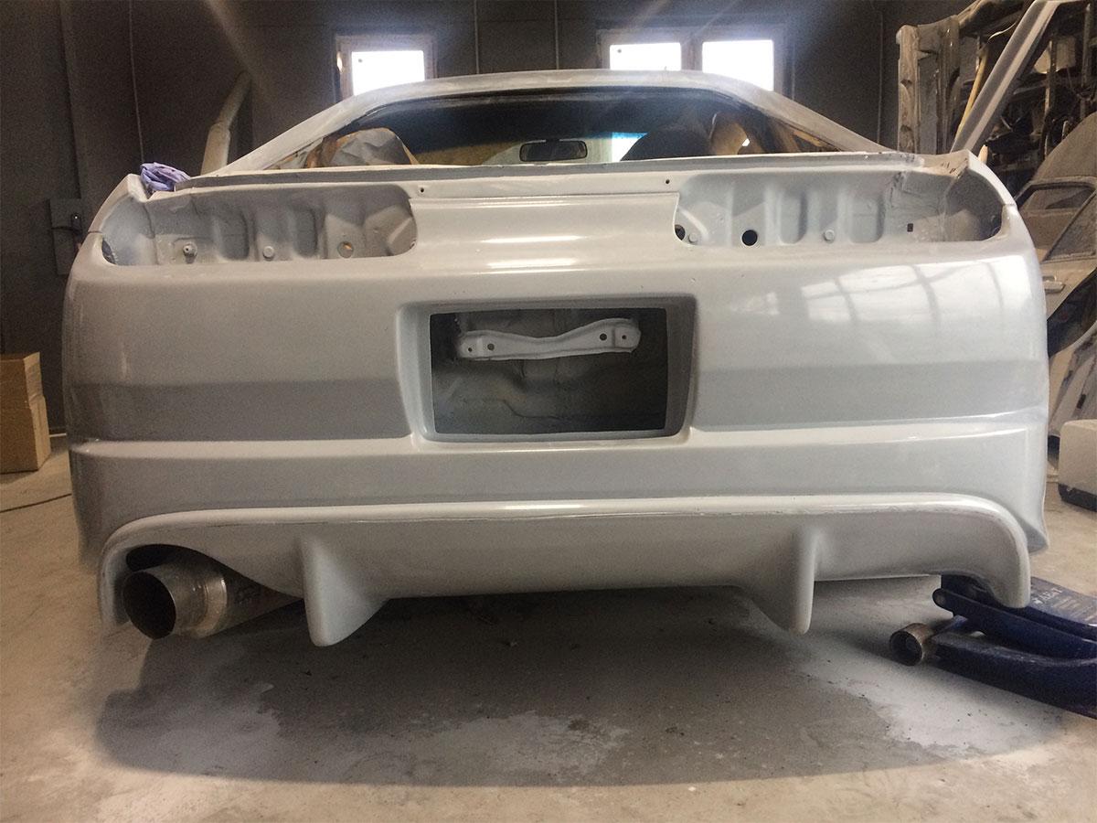 654 Задний бампер - Обвес Trial на Toyota Supra 80