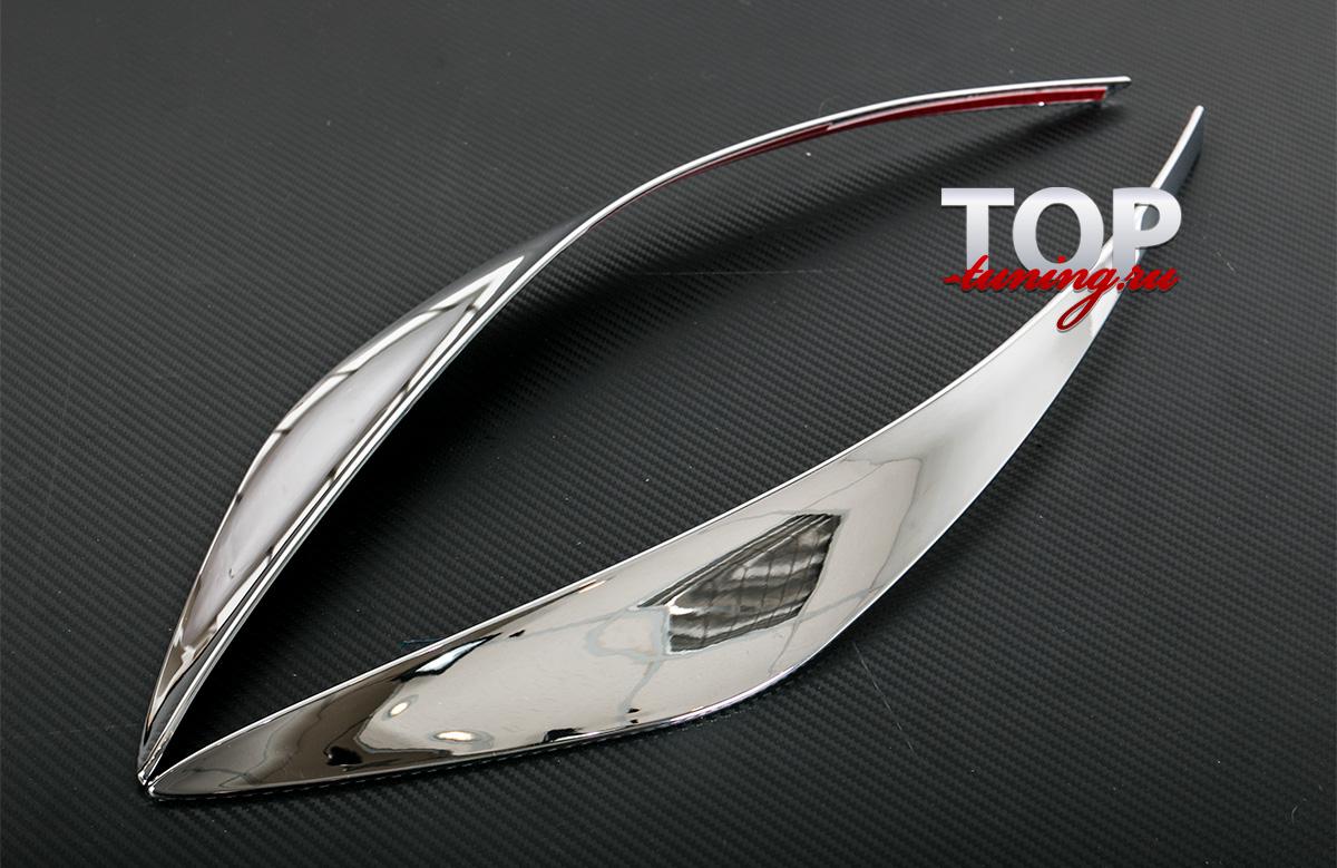 6593 Декоративные накладки на передний бампер TECH Design на Nissan X-Trail T32