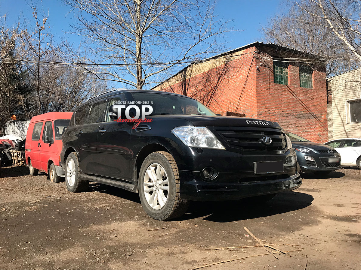 6653 Накладка на передний бампер Jaos на Nissan Patrol Y62