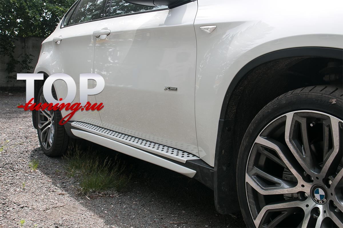 Накладки на пороги - Обвес Performance Max - Тюнинг БМВ х6 E71/E70 (АБС ПЛАСТИК)