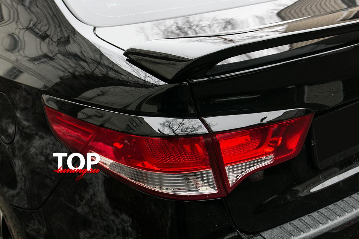 Спойлер на крышку багажника Evolution - Тюнинг Киа Рио (Рестайлинг, дорестайлинг)