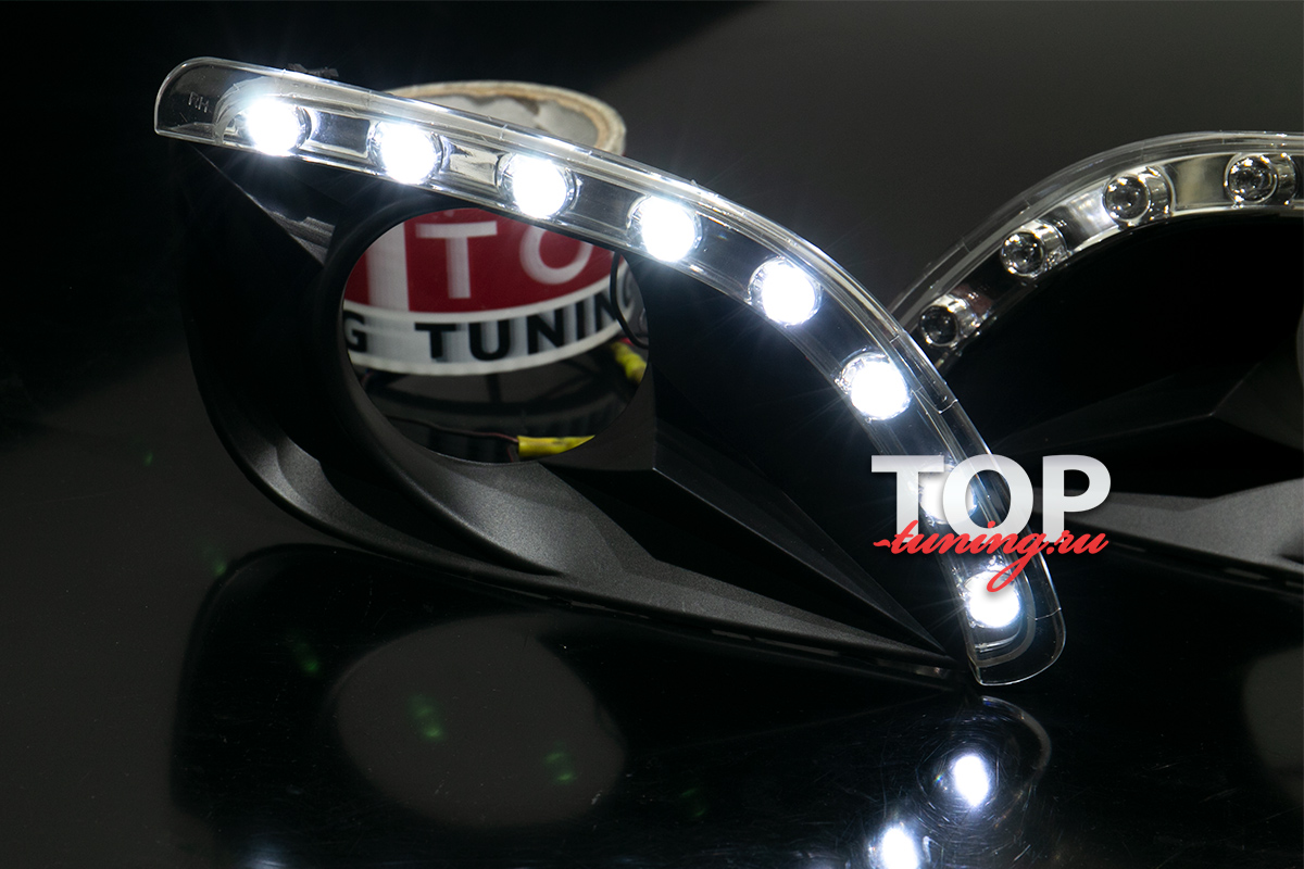 7898 Дневные ходовые огни Led Star на Toyota Camry V40 (6)