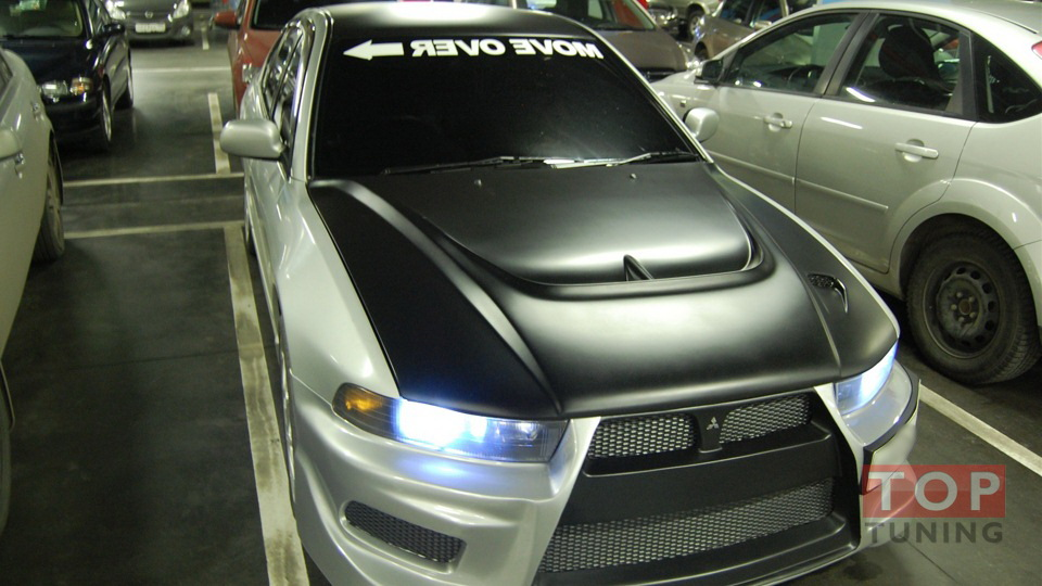 8000 Тюнинг - Капот Monster на Mitsubishi Galant 8