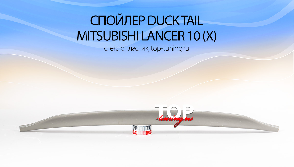 8024 Лип-спойлер Duck Tail на Mitsubishi Lancer 10 (X)