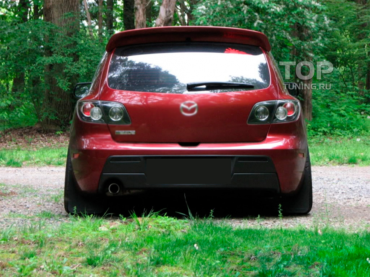 8026 Спойлер на крышку багажника Duck Tail на Mazda 3 BK