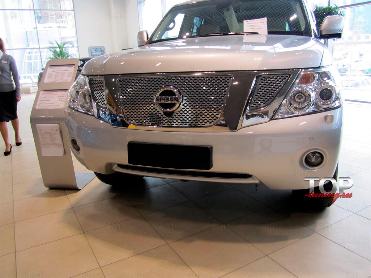 8087 Декоративная решетка Premium на Nissan Patrol Y62