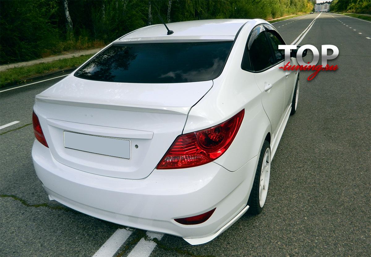8096 Лип-спойлер RS Style на Hyundai Solaris