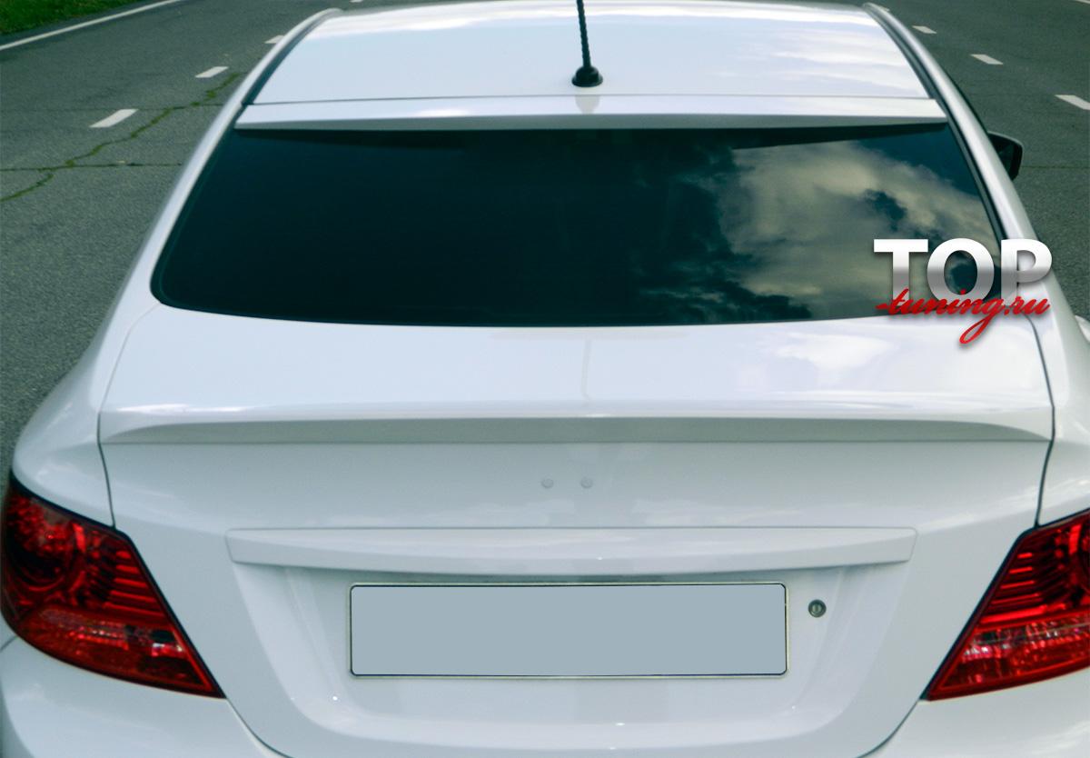 Спойлер на крышку багажника РС Стиль - Тюнинг Хендай Солярис (рестайлинг / дорестайлинг)