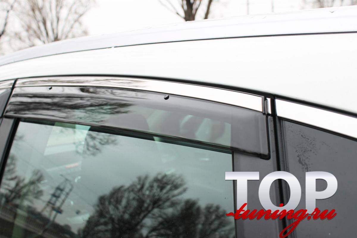 8443 Ветровики на окна Premium на Honda CR-V 4