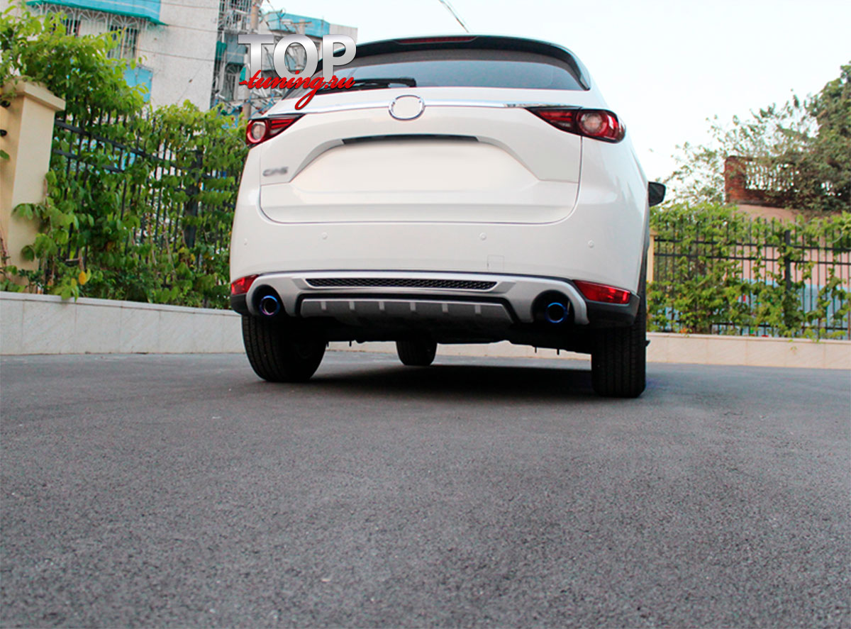 8566 Накладка на задний бампер Epic Deluxe на Mazda CX-5 2 поколение