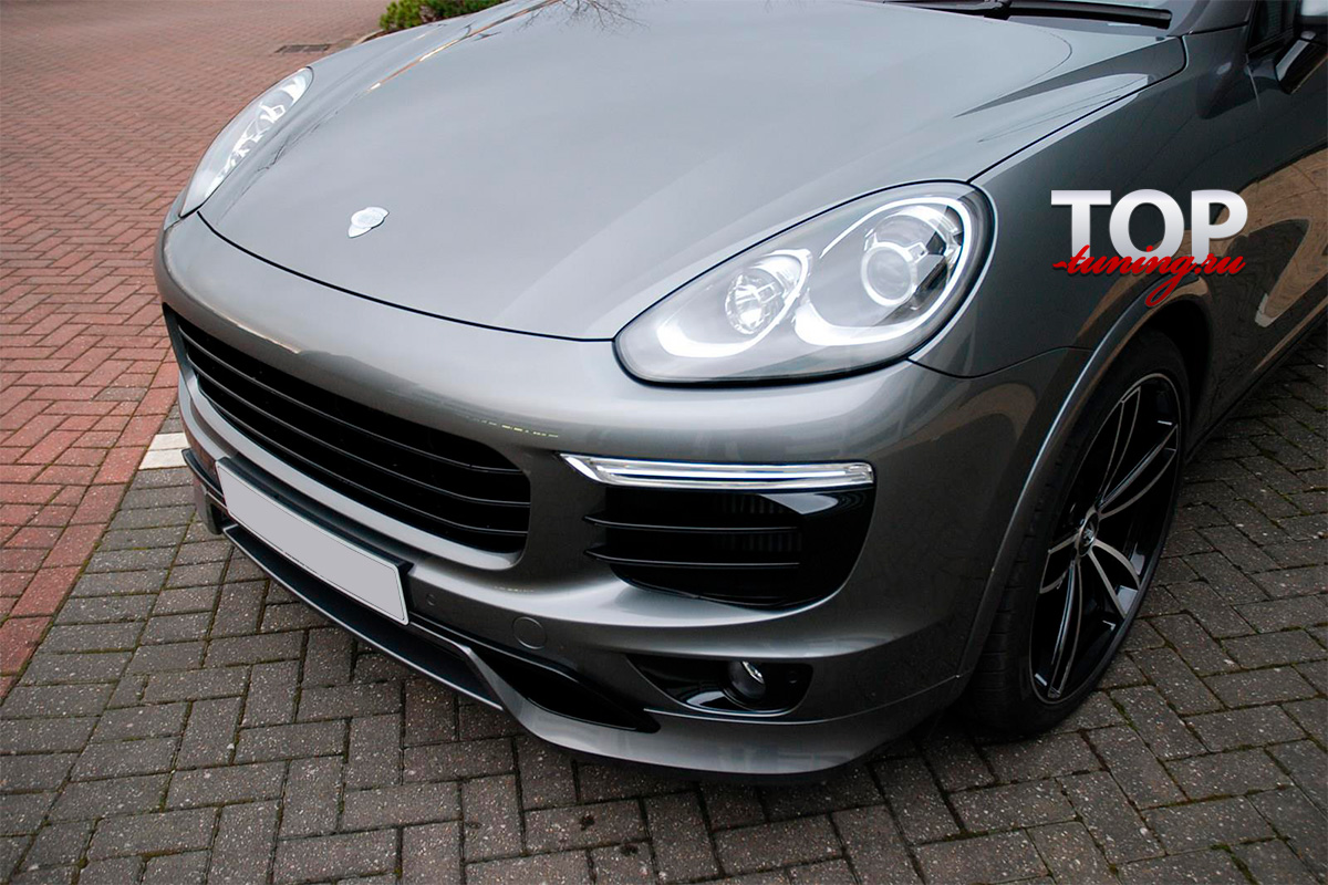 8609 Реснички на передние фары T-ART Aero I на Porsche Cayenne 958