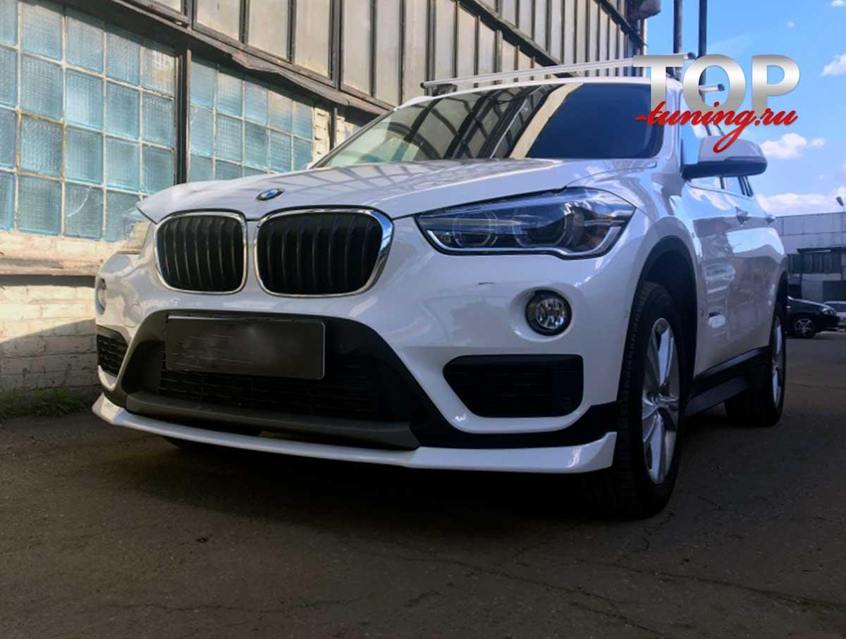 8636 Юбка на передний бампер на BMW X1 F48