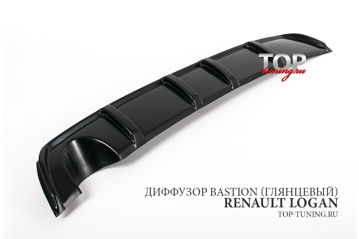 8670 Диффузор на задний бампер Bastion на Renault Logan