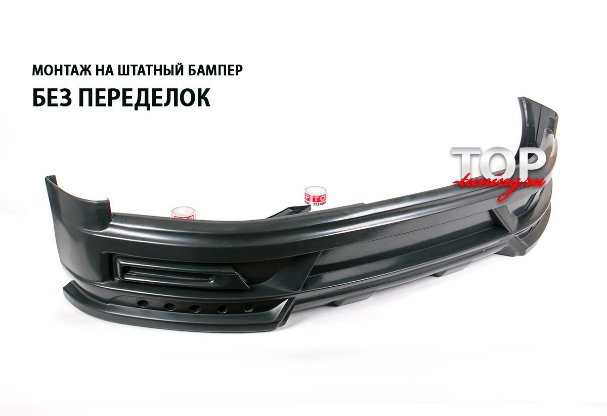 Монтаж на штатный бампер без переделок и подгонки