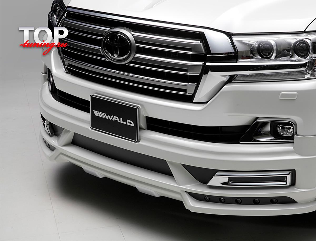 8708 Накладка на передний бампер WALD LITE на Toyota Land Cruiser 200