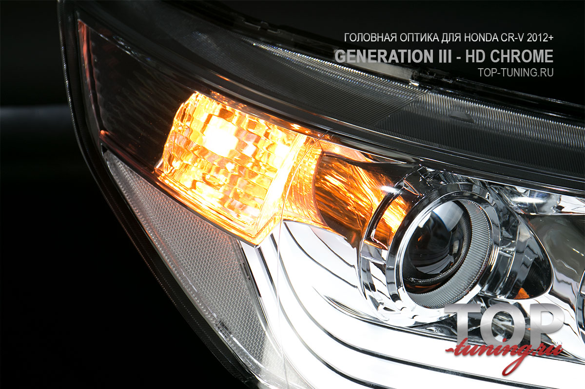 Хромированные 8718 Тюнинг фары HD Xenon Ready Bifocal на Honda CR-V