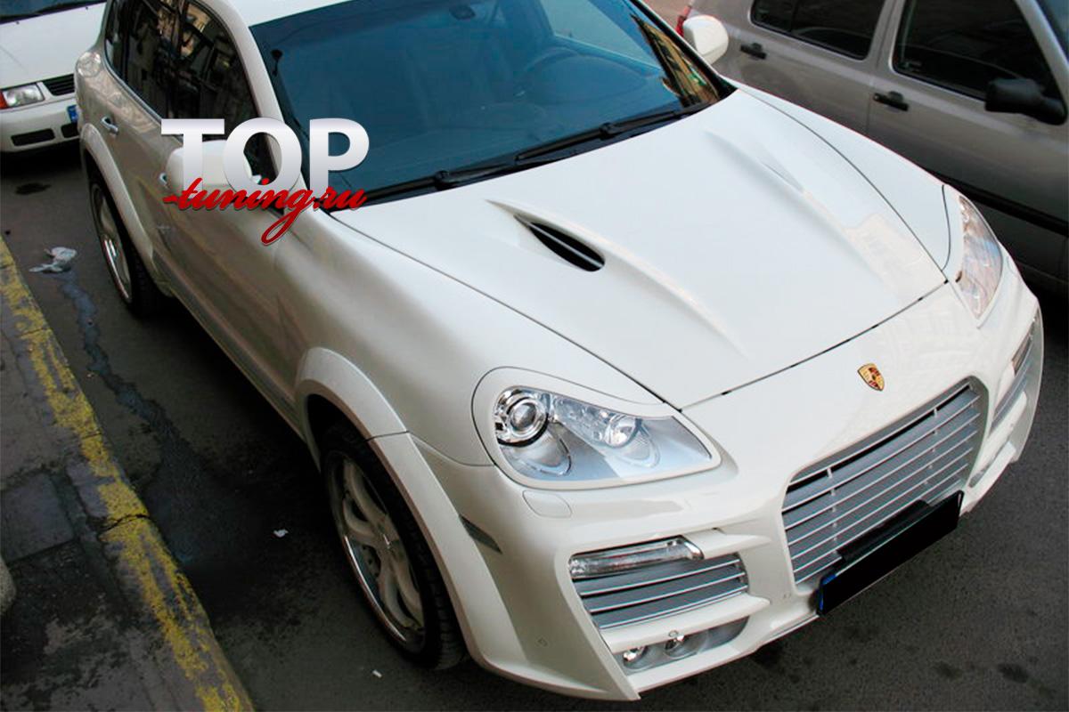 874 Реснички - накладки на передние фары Tech Art Magnum 2 на Porsche Cayenne 957