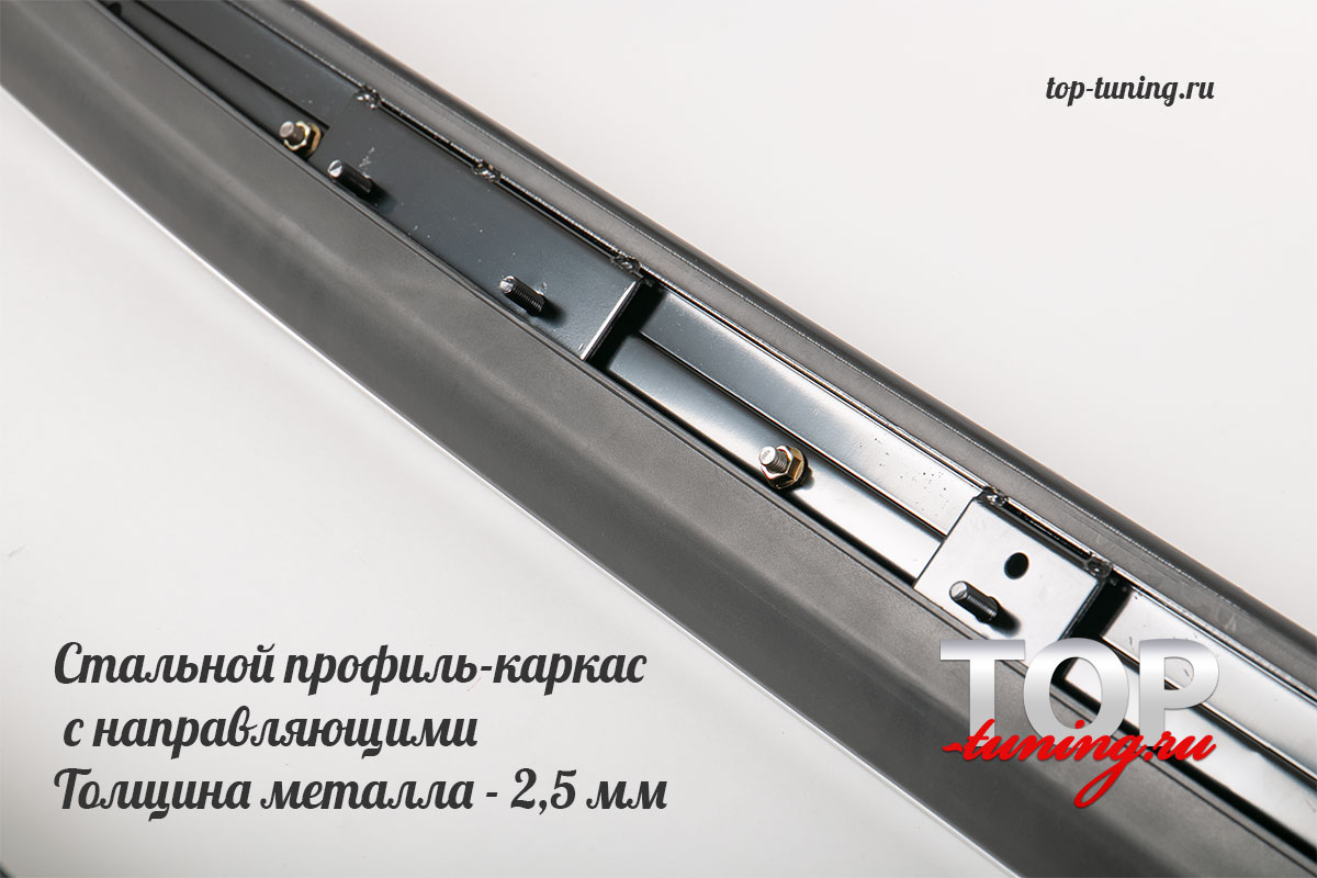 НАКЛАДКИ НА ПОРОГИ - СТУПЕНИ OEM ТЮНИНГ ХЕНДАЙ САНТА ФЕ 3 (2012+)
