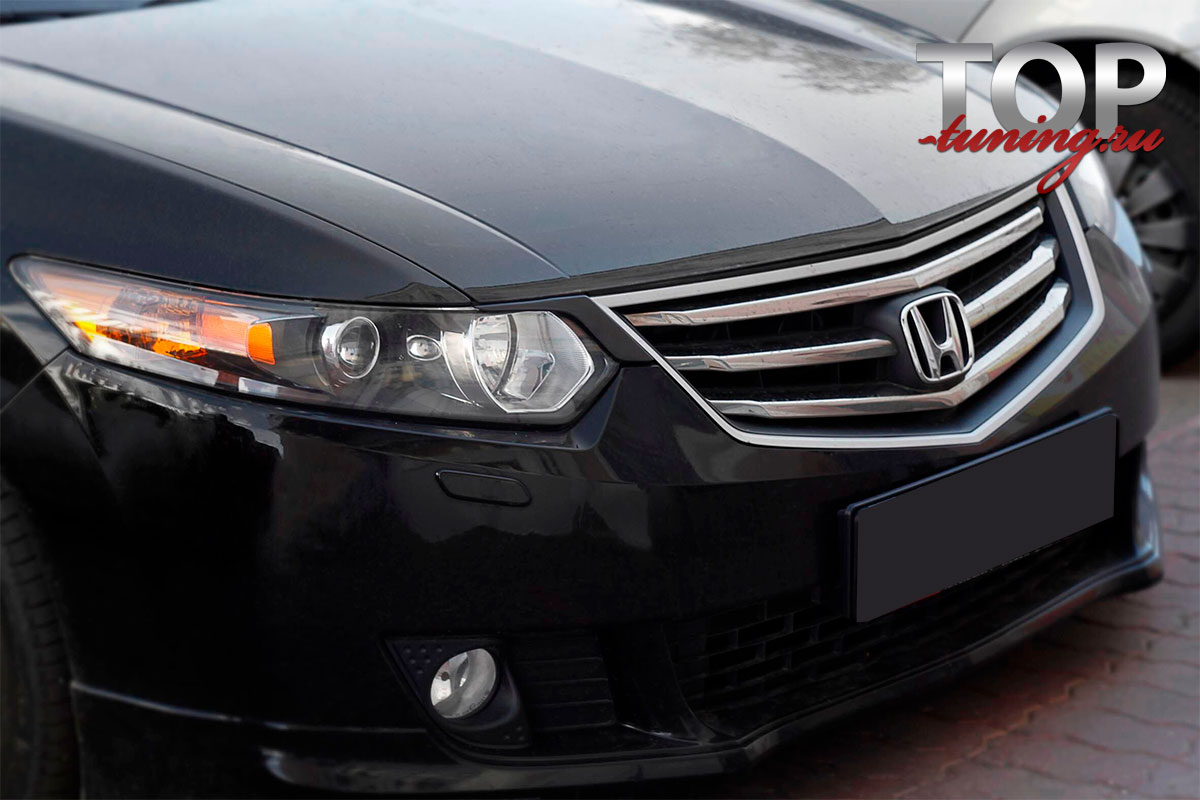 8798 Короткие реснички на фары Дорестайлинг на Honda Accord 8