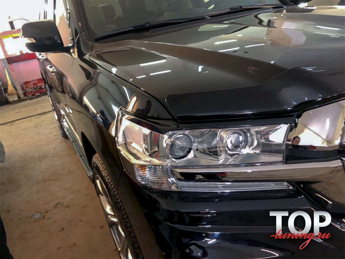 8806 Реснички на фары NEW на Toyota Land Cruiser 200