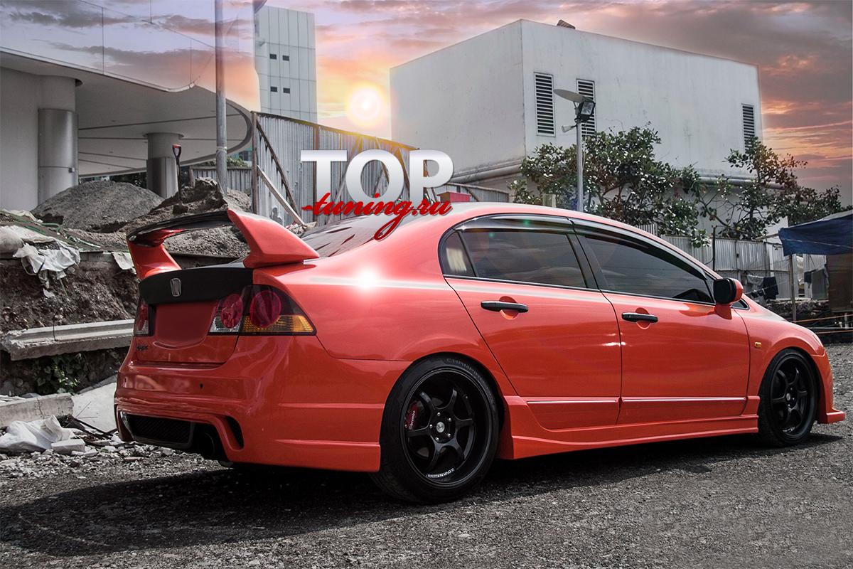 8831 Аэродинамический обвес Ings +1 Extreem на Honda Civic 4D (8)