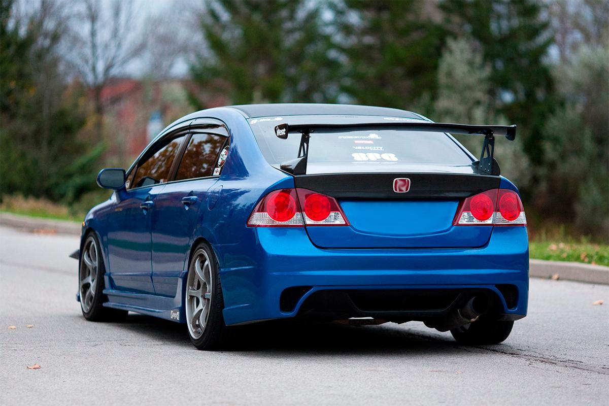 8833 Задний бампер Ings +1 Extreem на Honda Civic 4D (8)