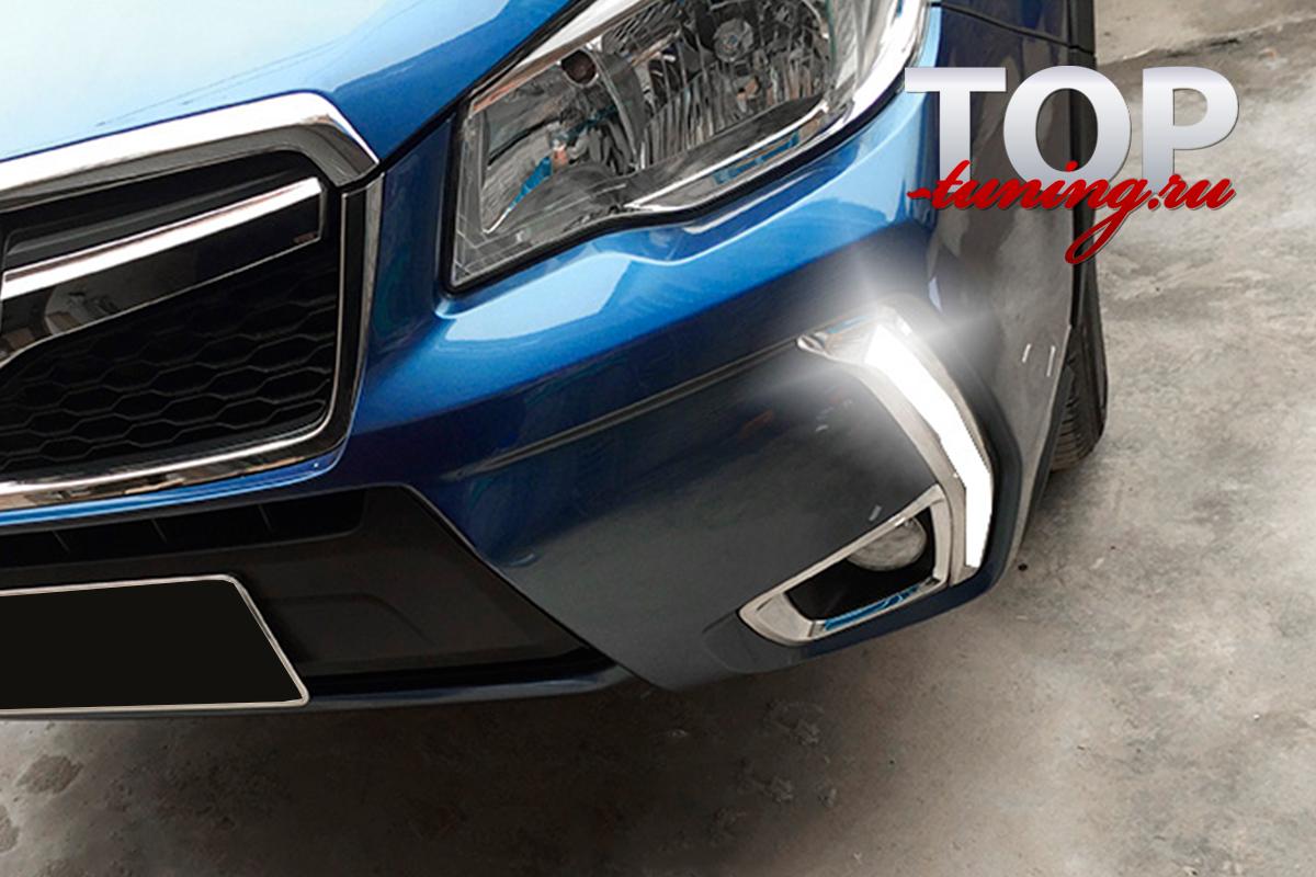 8858 ДХО + Повторители поворота Epic на Subaru Forester 4