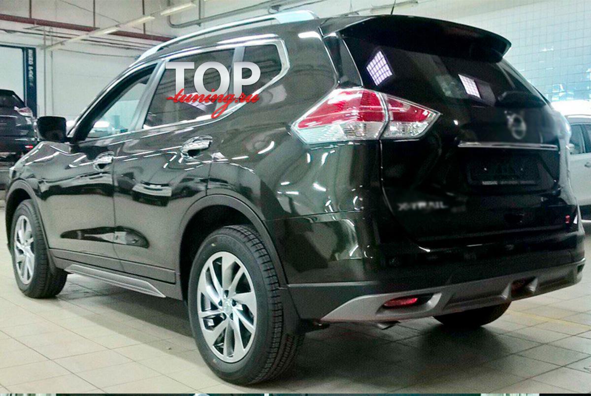 8950 Накладки на пороги Ambassador на Nissan X-Trail T32