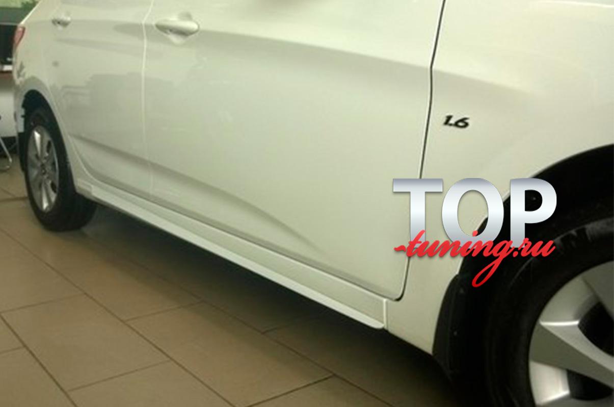 8954 Накладки на пороги Ambassador на Hyundai Solaris
