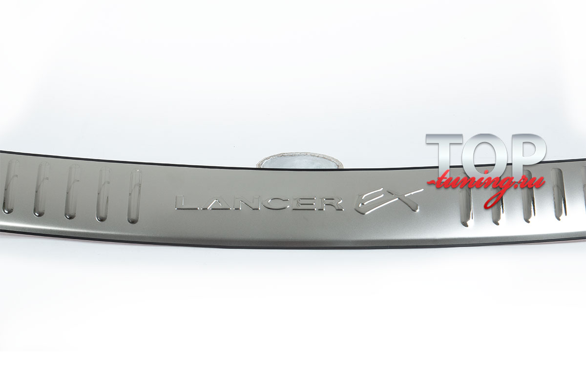 Протектор заднего бампера Ex на Mitsubishi Lancer 10 (X)