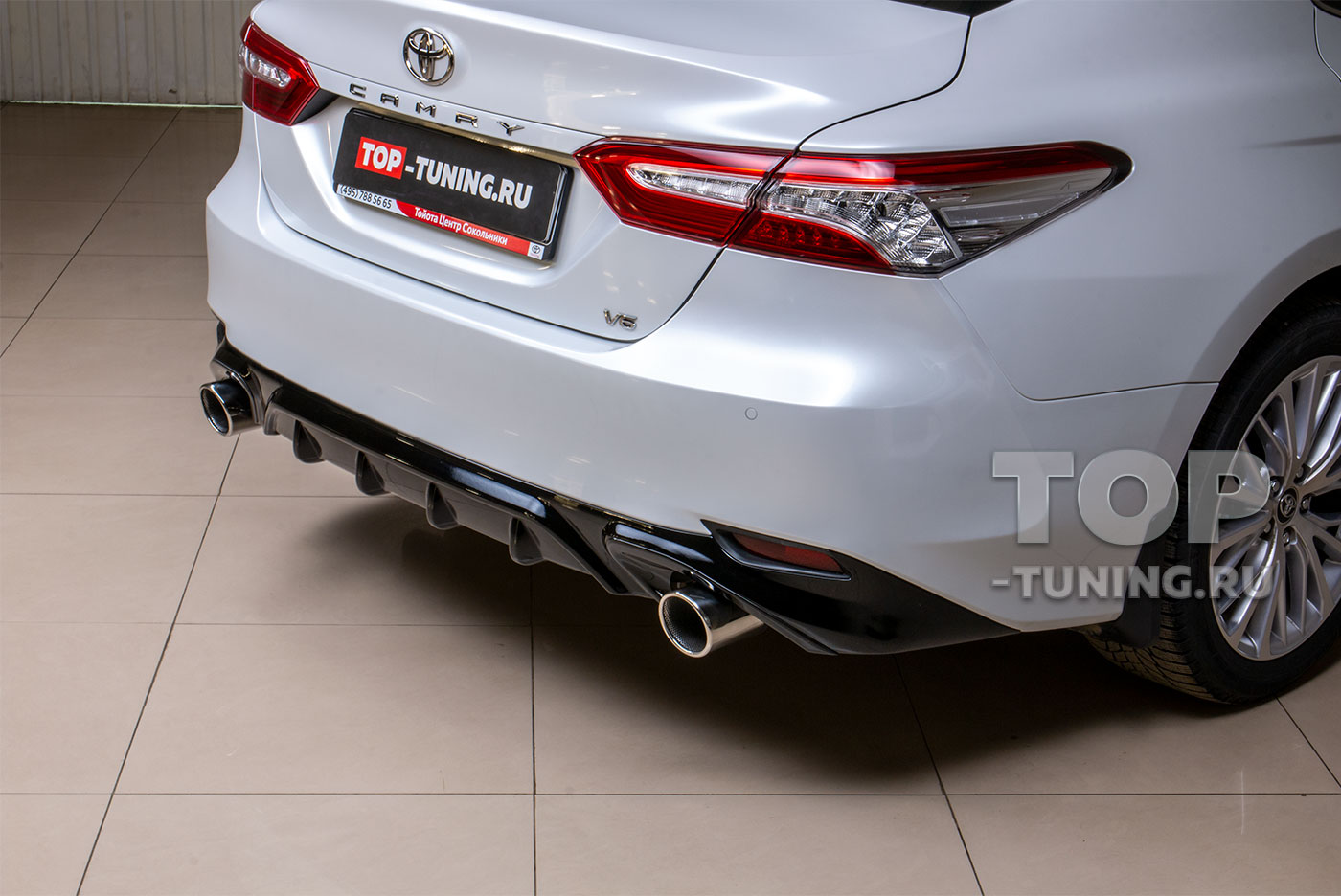 Насадки на выхлоп Тойота Камри (Toyota Camry XV70)