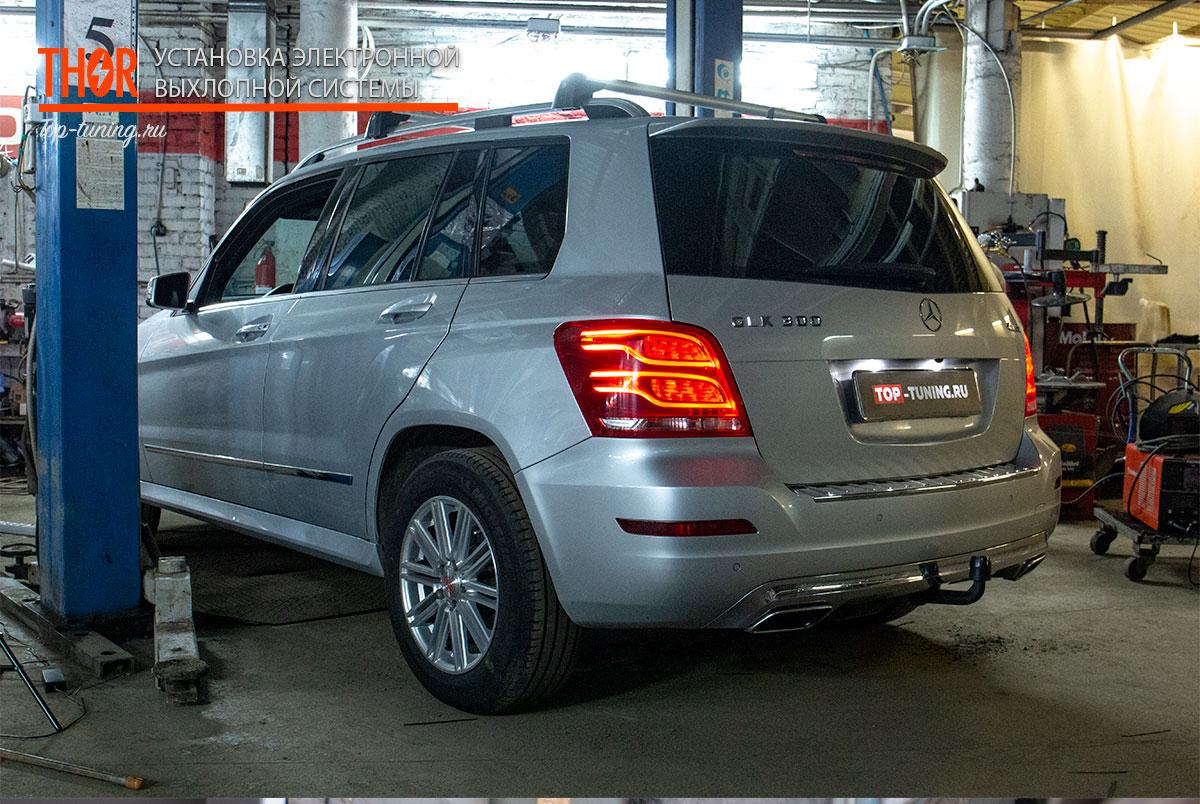 9139 Электронный выхлоп THOR на Mercedes GLK X204