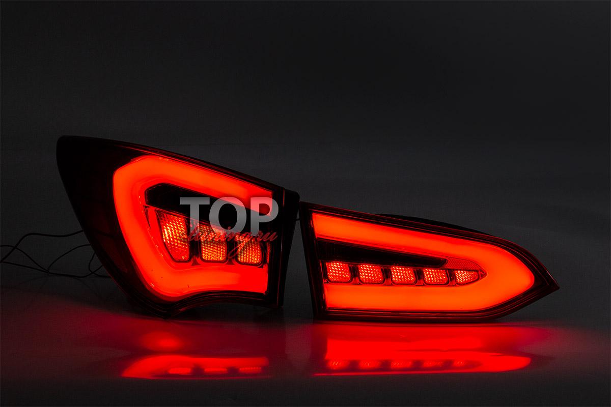 9163 Задние тюнинг-фонари Top Auto Deluxe на Hyundai Santa Fe 3 (DM)