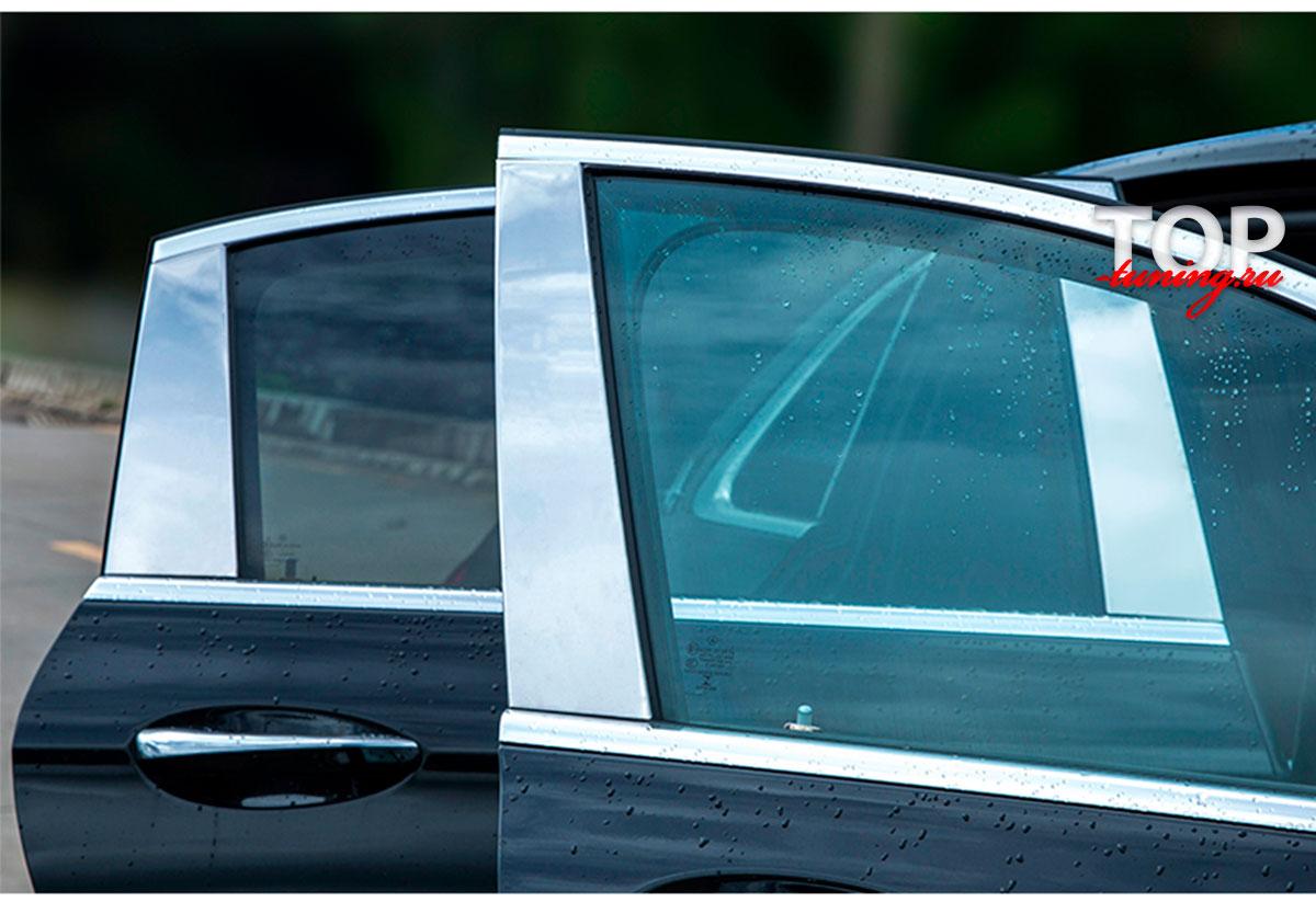 9222 Хром пакет на стойки дверей на Mercedes E-Class W213