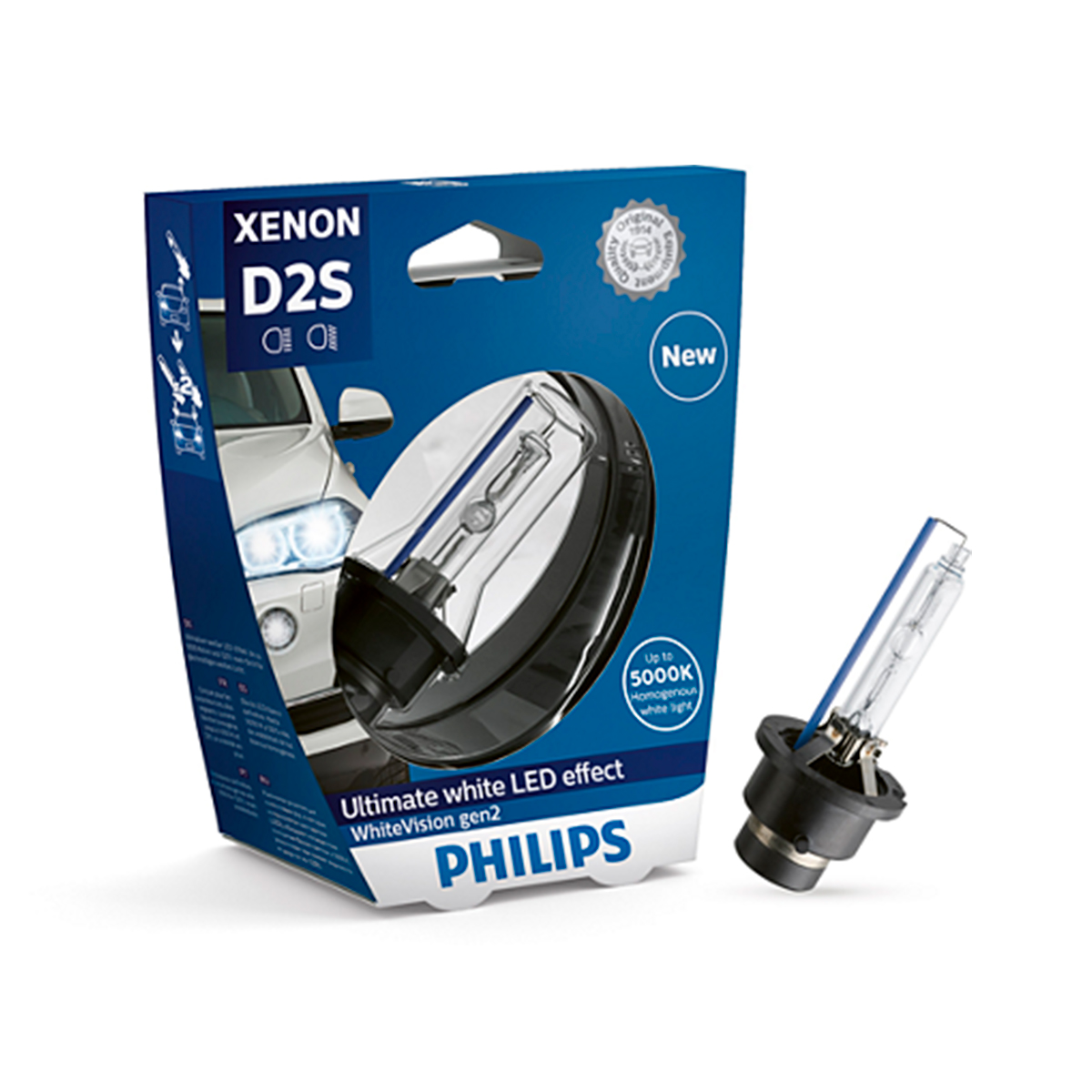 Ксеноновые лампы D2S Philips White Vision Generation 2