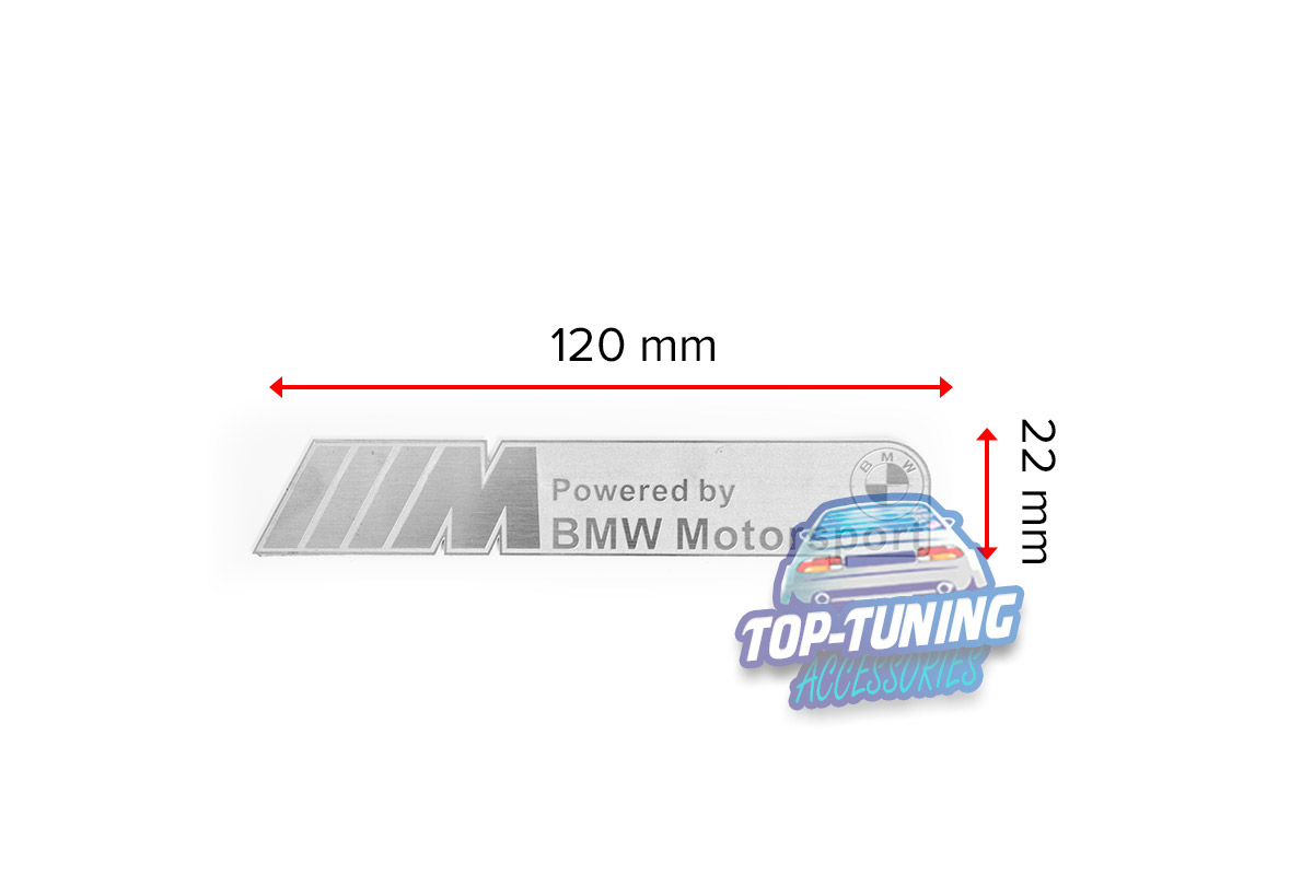 9308 Шильдик эмблема BMW Motorsport SIlver 120 x 22 mm на BMW