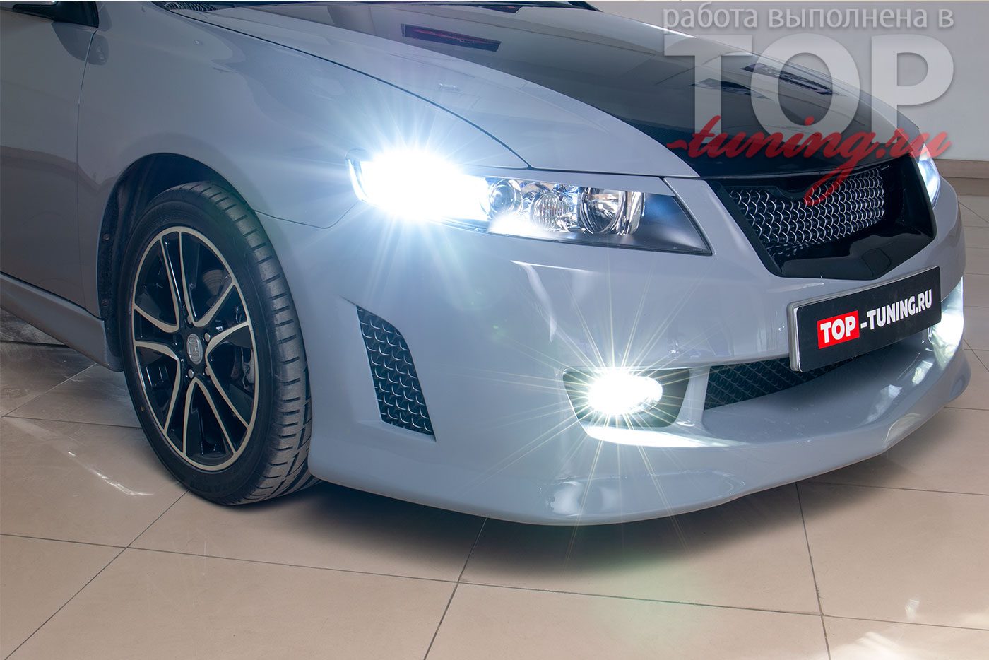 9318 Светодиодные ПТФ Optima LED FOG LFL-806 - 90мм на Honda