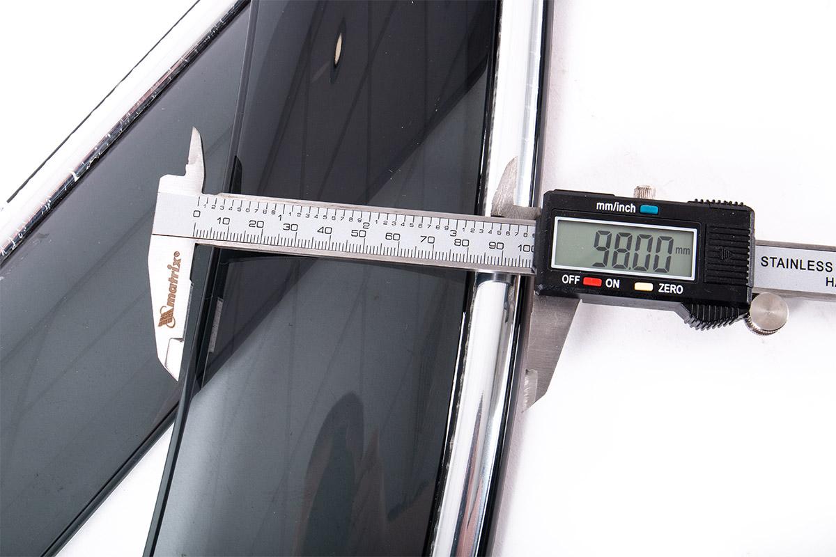 9371 Дефлекторы на окна Well Visors CHROME Line на Mitsubishi Outlander 2