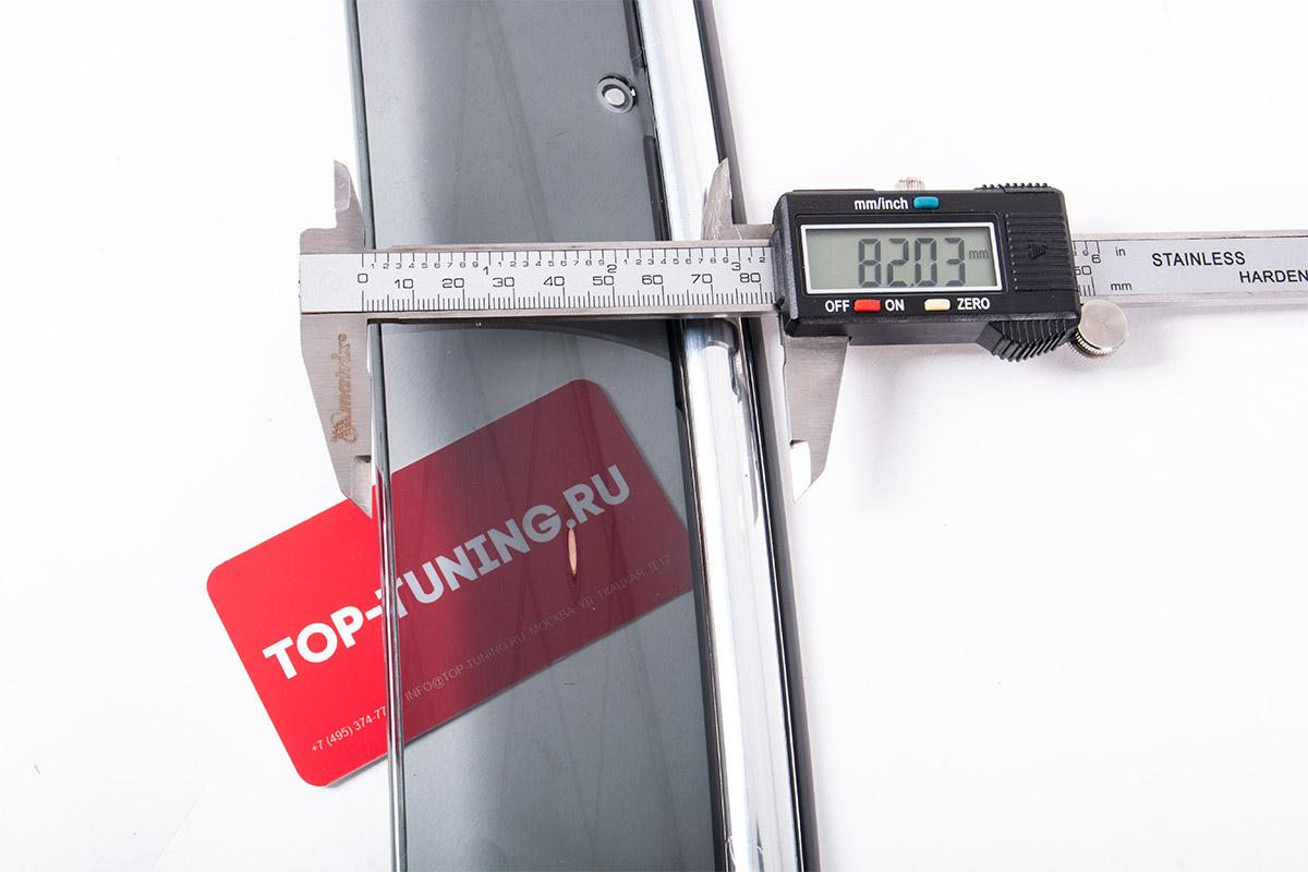 9576 Дефлекторы окон Chrome Line на Hyundai i30
