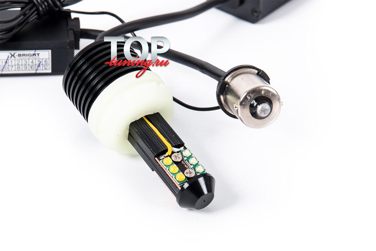 9729 ДХО с указателями повторителя поворота LED S25 - PY21W (1156/BAU15)