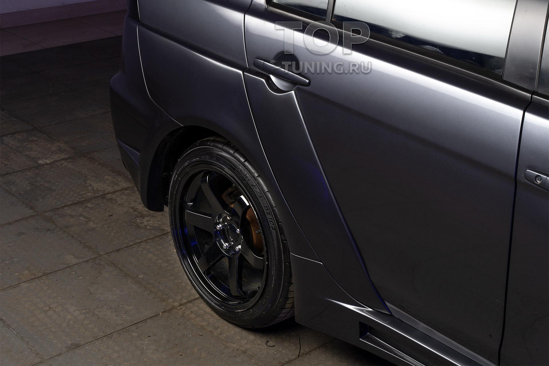 Тюнинг Лансер 10 - расширение задних крыльев с переходом на двери