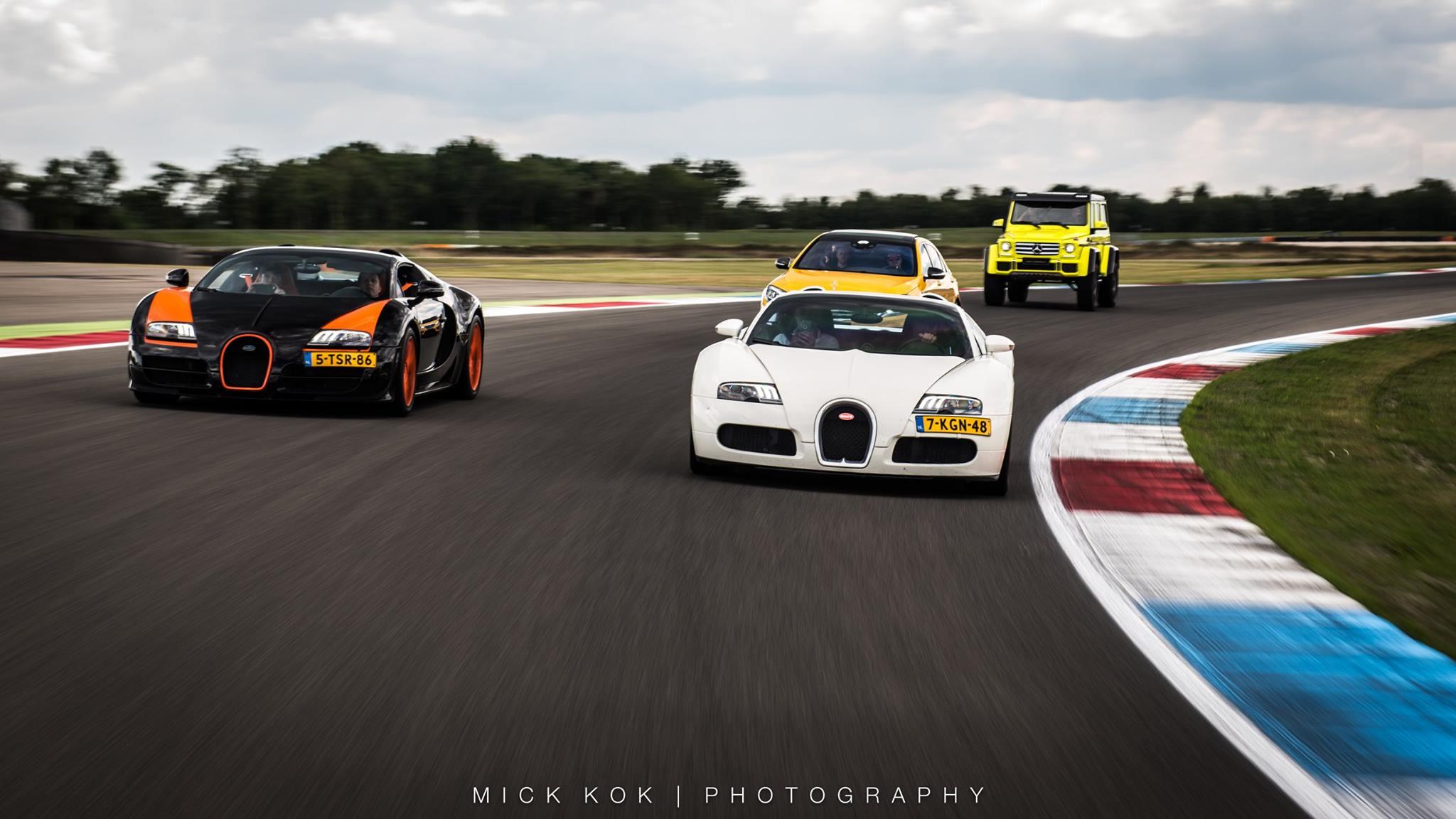 Там были - белый Lamborghini Huracan Performante, не менее древний Aventador S и два Bugatti Veyron от популярных DutchBugs, одним из которых был редкий выпуск WRC. Один из 35 Mclaren P1 GTR также присутствовал там полностью отделанный хромом, наряду