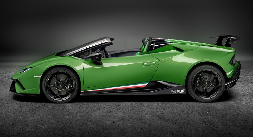 Lamborghini Huracan Performante Spyder почти официально появился в Гардоне-Ривьера, в Италии и был недавно заснят Giammiseri Photography.