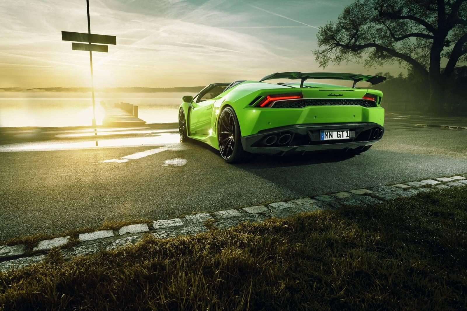 Novitec занижает Lamborghini Huracan Spyder еще на 35 миллиметров ближе к земле.