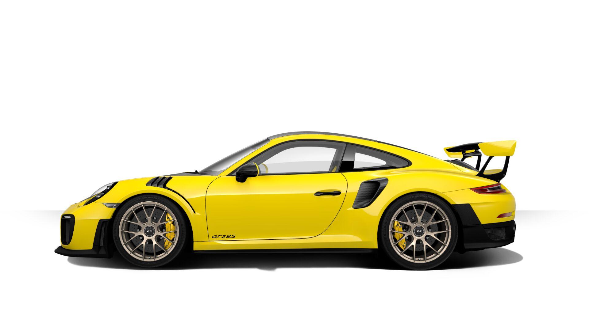 Клиенты могут выбирать из четырех стандартных цветов, включая черный, белый, «гвардейский красный» и «гоночный желтый». Известными дополнительными цветами являются «GT Silver Metallic», необычный «Crayon», роскошный «Lava Orange» и великолепный «Майа