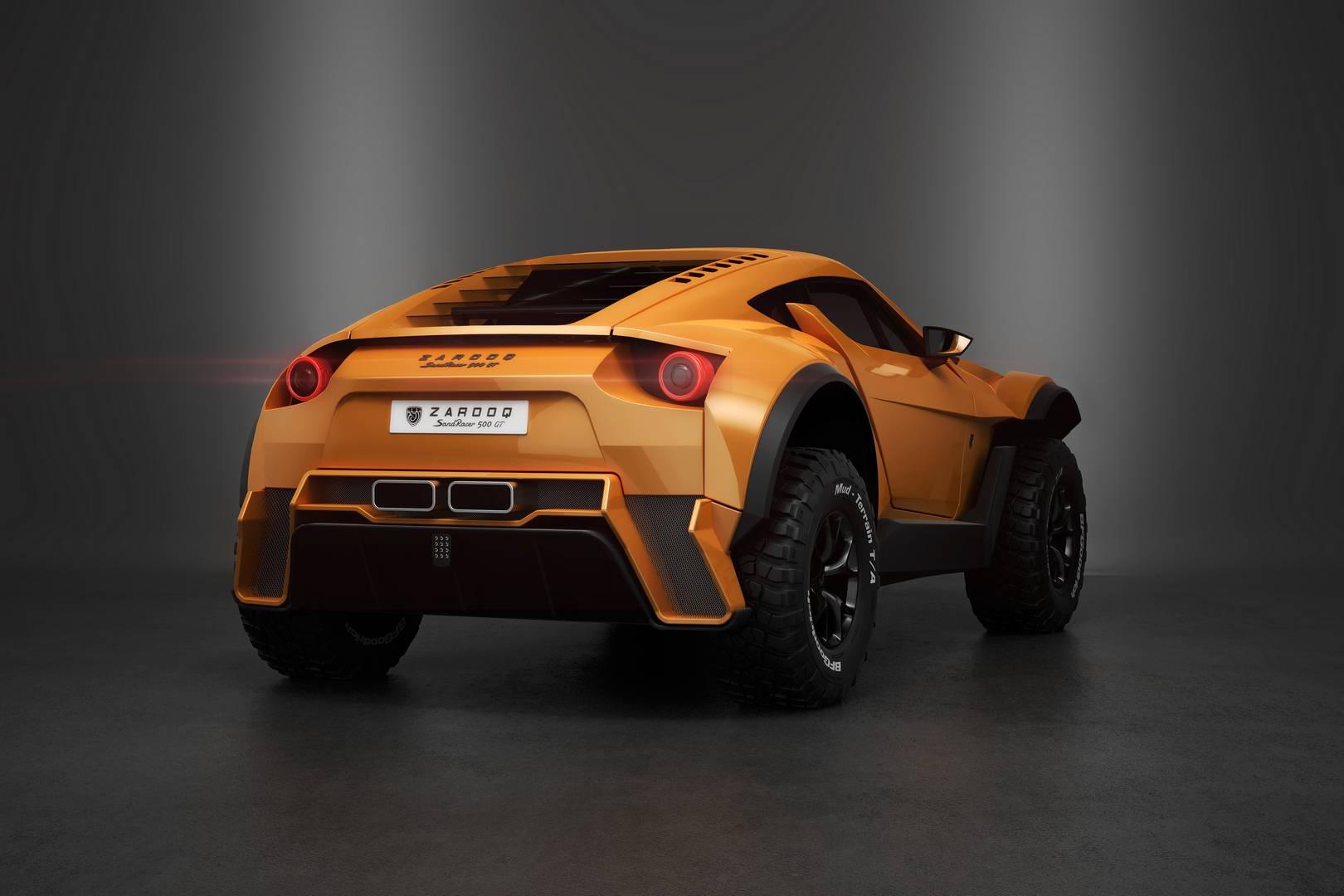 Автомобиль представляет собой роскошной багги. После того, как первоначальный дизайн был представлен еще в конце 2015 года, SandRacer прошел обширные испытания и теперь готов к производству.